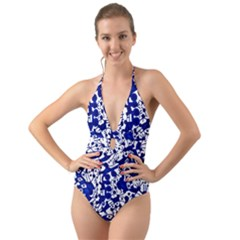 Direct Travel Halter Cut Out One Piece Swimsuit