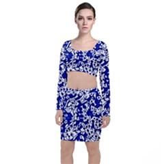 Direct Travel Long Sleeve Crop Top & Bodycon Skirt Set