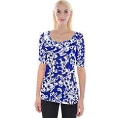 Direct Travel Wide Neckline Tee