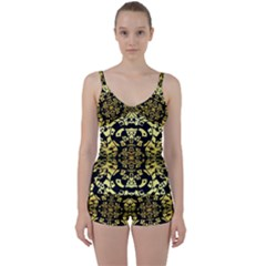 Dna Round Off Tie Front Two Piece Tankini by MRTACPANS