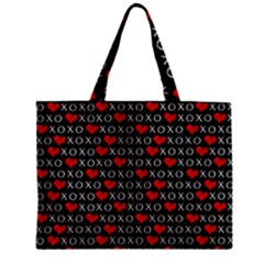 Xoxo Valentines Day Pattern Zipper Mini Tote Bag by Valentinaart