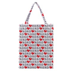 Xoxo Valentines Day Pattern Classic Tote Bag by Valentinaart