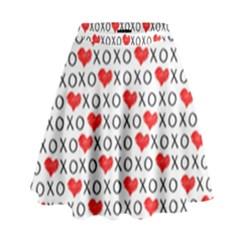 Xoxo Valentines Day Pattern High Waist Skirt by Valentinaart