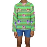Rainbow Ponies Kids  Long Sleeve Swimwear