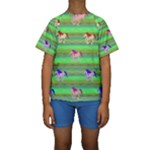 Rainbow Ponies Kids  Short Sleeve Swimwear