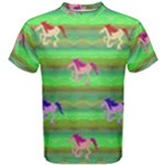 Rainbow Ponies Men s Cotton Tee