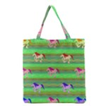 Rainbow Ponies Grocery Tote Bag