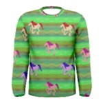 Rainbow Ponies Men s Long Sleeve Tee