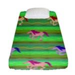 Rainbow Ponies Fitted Sheet (Single Size)