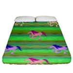 Rainbow Ponies Fitted Sheet (Queen Size)