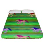 Rainbow Ponies Fitted Sheet (King Size)