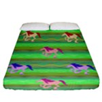 Rainbow Ponies Fitted Sheet (California King Size)