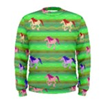 Rainbow Ponies Men s Sweatshirt