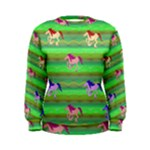 Rainbow Ponies Women s Sweatshirt