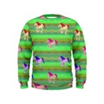 Rainbow Ponies Kids  Sweatshirt