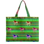 Rainbow Ponies Zipper Mini Tote Bag
