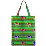 Rainbow Ponies Zipper Classic Tote Bag