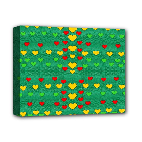Love Is In All Of Us To Give And Show Deluxe Canvas 14  X 11  by pepitasart