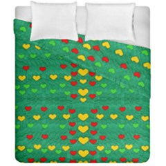 Love Is In All Of Us To Give And Show Duvet Cover Double Side (california King Size) by pepitasart