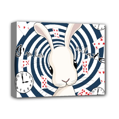 White Rabbit In Wonderland Deluxe Canvas 14  X 11  by Valentinaart