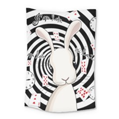 White Rabbit In Wonderland Small Tapestry by Valentinaart