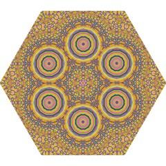 Wood Festive Rainbow Mandala Mini Folding Umbrellas by pepitasart