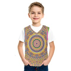 Wood Festive Rainbow Mandala Kids  Sportswear by pepitasart