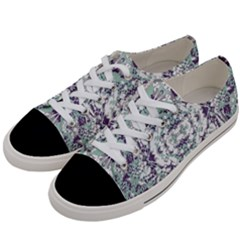 Modern Collage Pattern Mosaic Women s Low Top Canvas Sneakers by dflcprints