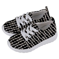 Wavy Stripes Pattern Kids  Lightweight Sports Shoes by dflcprints