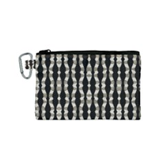 Wavy Stripes Pattern Canvas Cosmetic Bag (small)