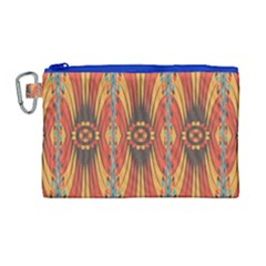 Geometric Extravaganza Pattern Canvas Cosmetic Bag (large) by linceazul