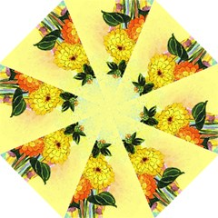 Background Flowers Yellow Bright Straight Umbrellas