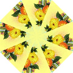 Background Flowers Yellow Bright Hook Handle Umbrellas (small)
