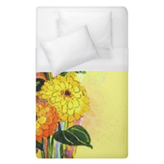 Background Flowers Yellow Bright Duvet Cover (single Size)