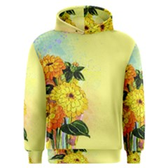 Background Flowers Yellow Bright Men s Overhead Hoodie