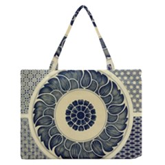 Background Vintage Japanese Zipper Medium Tote Bag