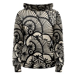 Background Abstract Beige Black Women s Pullover Hoodie