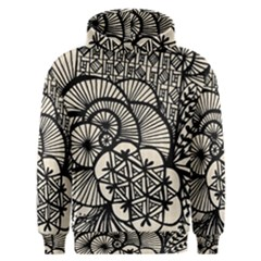 Background Abstract Beige Black Men s Overhead Hoodie