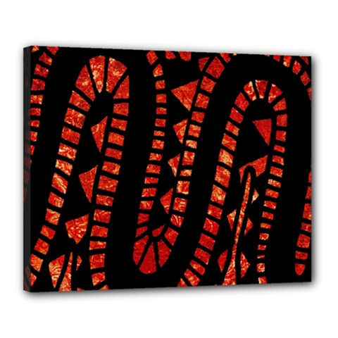 Background Abstract Red Black Canvas 20  X 16