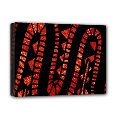 Background Abstract Red Black Deluxe Canvas 16  X 12