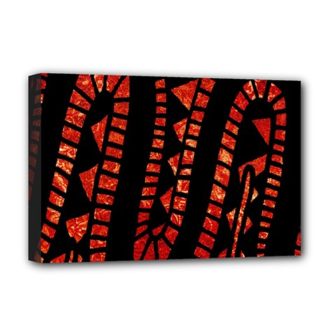 Background Abstract Red Black Deluxe Canvas 18  X 12