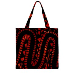 Background Abstract Red Black Zipper Grocery Tote Bag by Nexatart