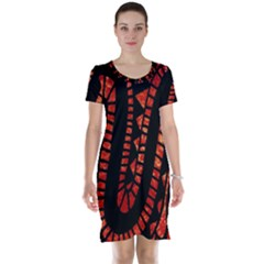 Background Abstract Red Black Short Sleeve Nightdress