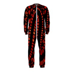 Background Abstract Red Black Onepiece Jumpsuit (kids)