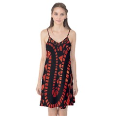 Background Abstract Red Black Camis Nightgown