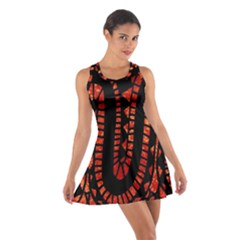 Background Abstract Red Black Cotton Racerback Dress