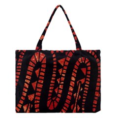 Background Abstract Red Black Medium Tote Bag