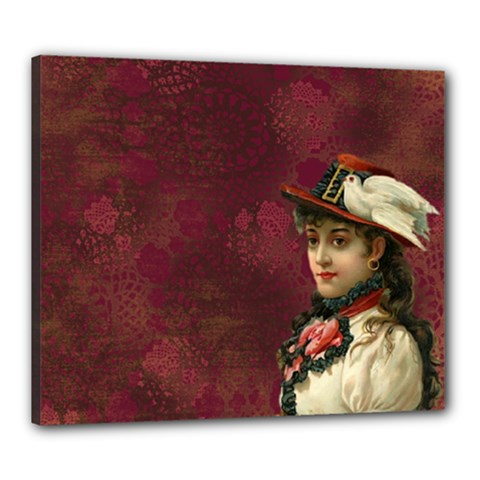 Vintage Edwardian Scrapbook Canvas 24  X 20