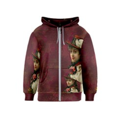Vintage Edwardian Scrapbook Kids  Zipper Hoodie