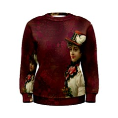 Vintage Edwardian Scrapbook Women s Sweatshirt